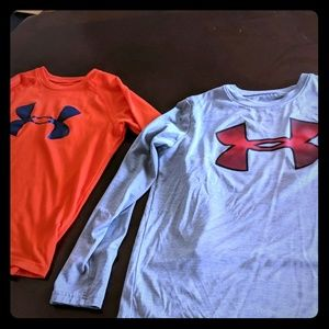 2 Long sleeve dri fit under armour shirts
